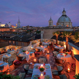 Hotel Raphael rooftop bar Rome