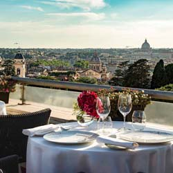 Rooftop restaurants Rome
