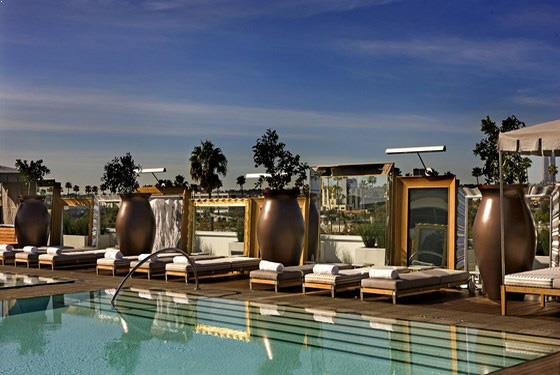 Rooftop party in Los Angeles, Altitude Pool Deck