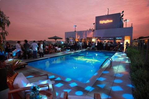 Rooftop party in Los Angeles, Andaz West Hollywood