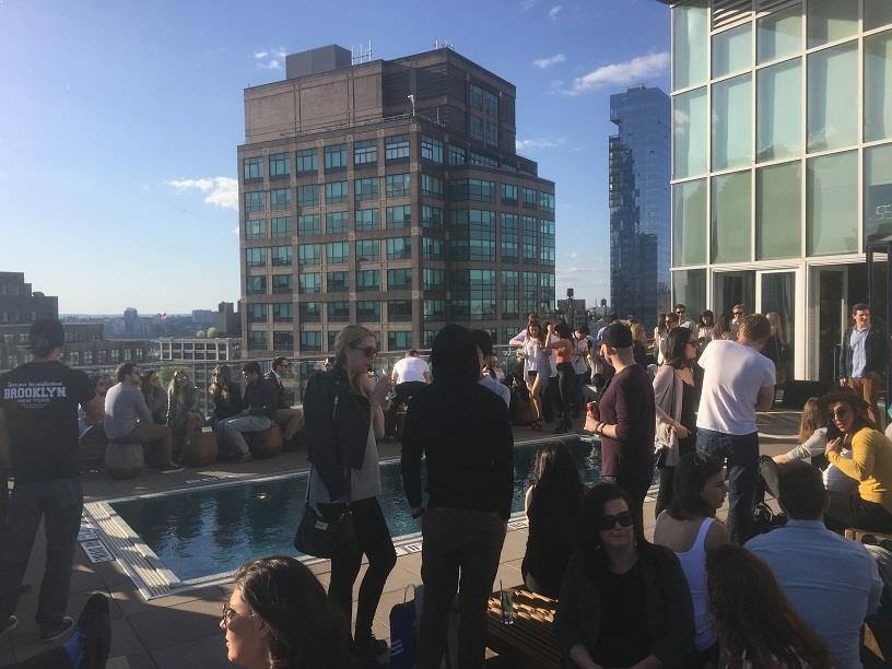 Rooftop party in New York