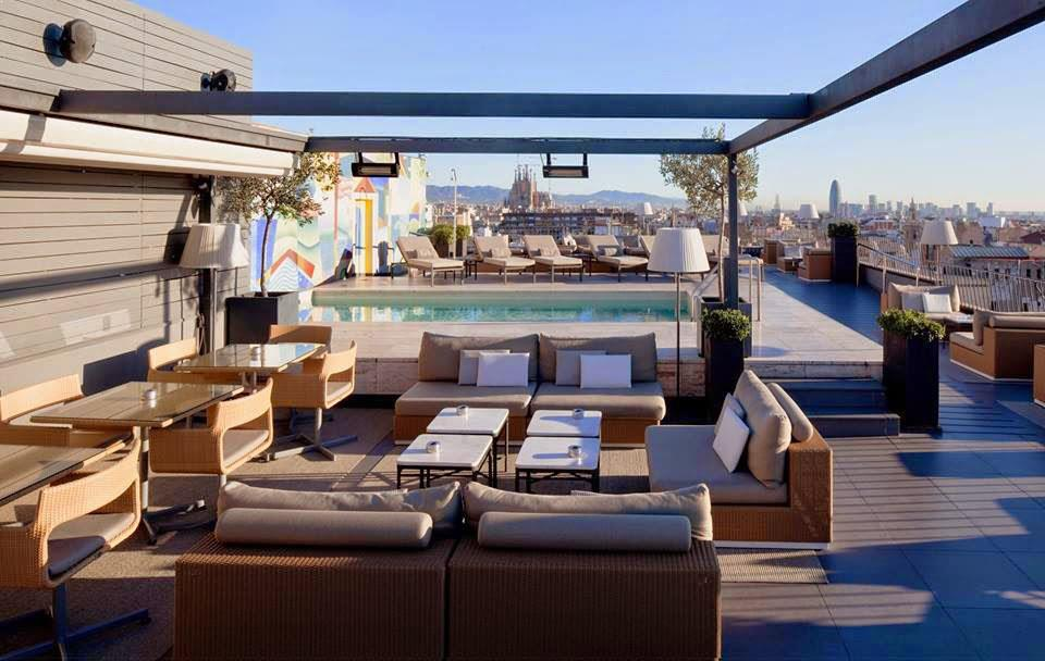 Rooftop bar Majestic in Barcelona