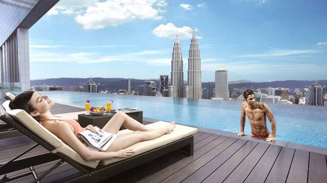 Rooftop pool in Kuala Lumpur, The FACE Suites