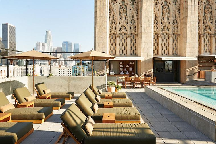 Rooftop party in Los Angeles, Upstairs Bar at the Ace Hotel
