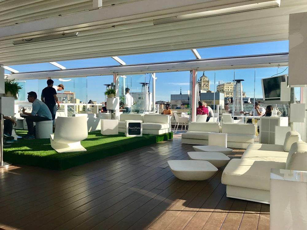 Drinks And Snacks At The Rooftop Bar La Terraza De Oscar In