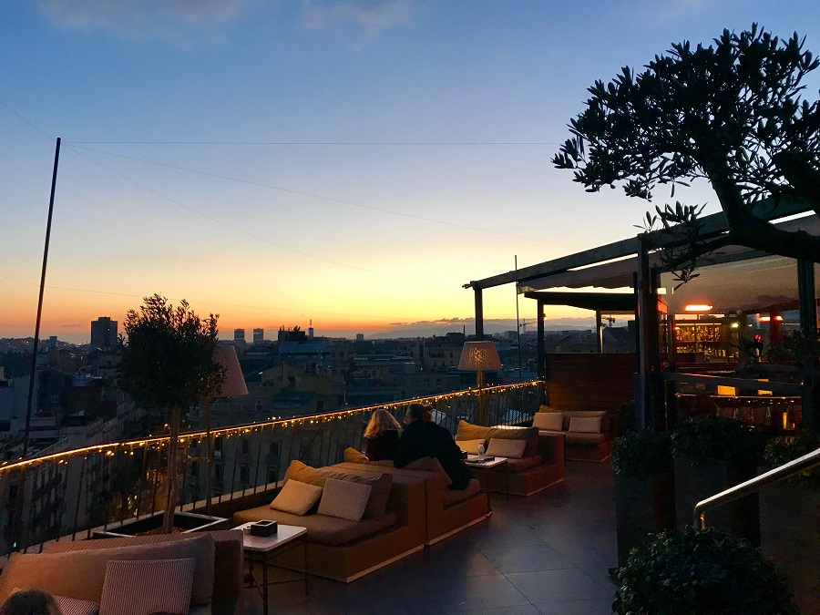 Sunset Cocktails At The Roof Terrace At Hotel Majestic In