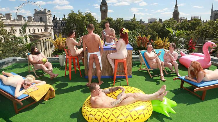 Naked rooftop bar in London
