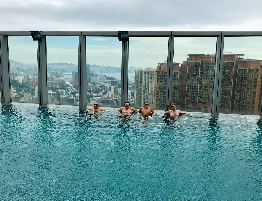 W hong kong and one of the world s highest rooftop pools - Tallest swimming pool in the world ...