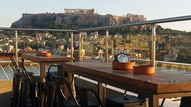 Rooftop bar Athens AthenStyle Rooftop Bar & Restaurant
