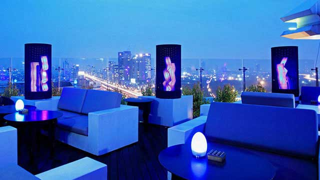 Rooftop bar Bangkok Bluesky - Centara Grand Lad Prao in Bangkok