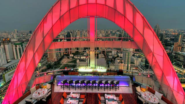 Rooftop bar Bangkok Red Sky - Centara Grand at CentralWorld in Bangkok