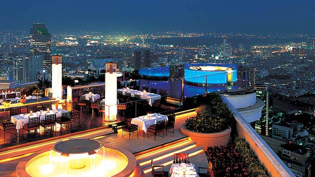 Rooftop bar Bangkok Sirocco in Bangkok