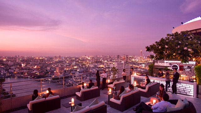 Rooftop bar Bangkok Three Sixty - Millennium Hilton in Bangkok