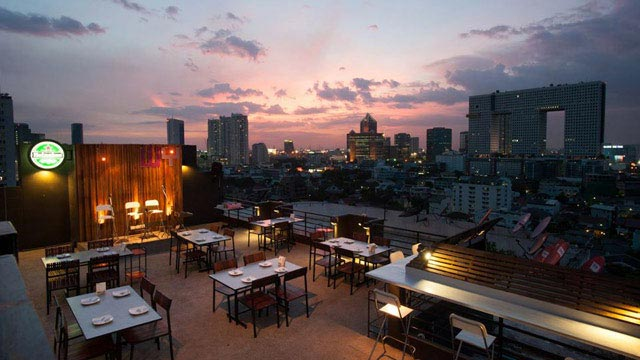 Rooftop bar Bangkok Water Y Restaurant in Bangkok