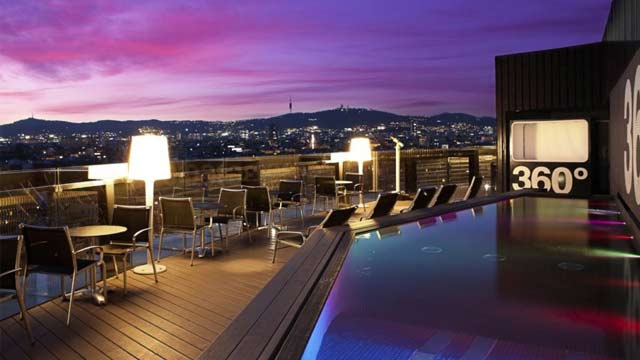 Barcelo Raval Hotel Rooftop Bar In Barcelona The