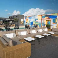 Rooftop bar Barcelona La Dolce Vitae at Majestic Hotel in Barcelona