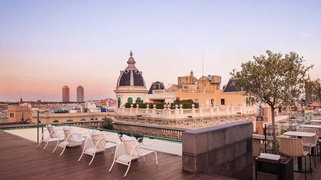 Rooftop bar Barcelona Ohla Chillout Terrace at Ohla Hotel in Barcelona