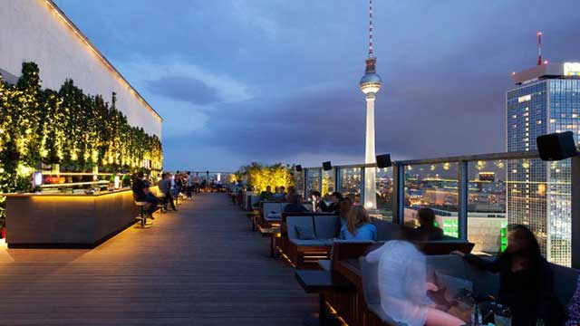 Roof Garden At House Of Weekend Rooftop Bar In Berlin