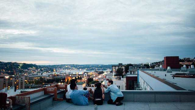 Rooftop Bar Tip Top Bar In Budapest