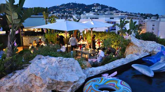 Rooftop bar Cannes 3.14 Hôtel in Cannes