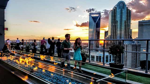 Fahrenheit Charlotte Rooftop Bar The Rooftop Guide