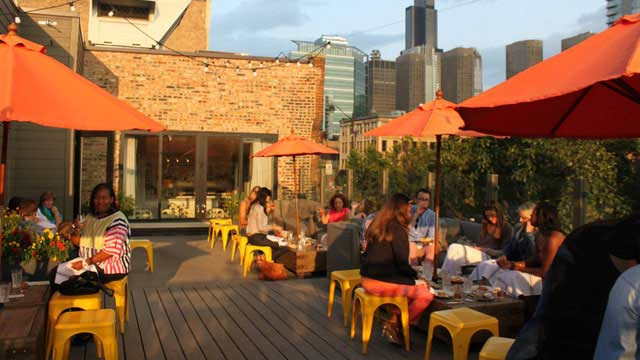 Rooftop bar Chicago Little Goat Diner in Chicago
