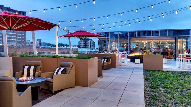 Rooftop FIRE Terrace at the Art a hotel in Denver