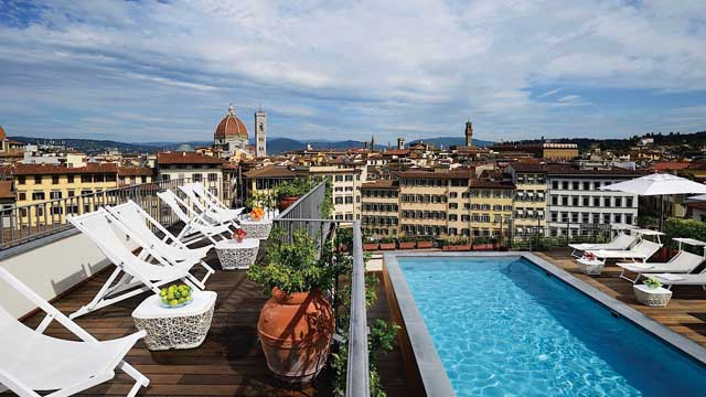 Rooftop bar Florence La Terrazza del Minerva at Grand Hotel Minerva in Florence