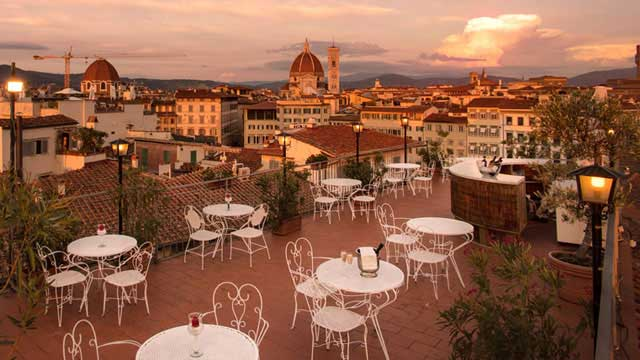 Hotel Croce Di Malta Rooftop Bar In Florence The