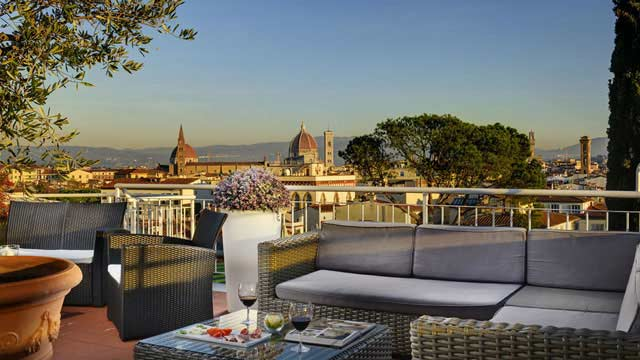 Terrazza Rossini At Hotel Kraft Rooftop Bar In Florence