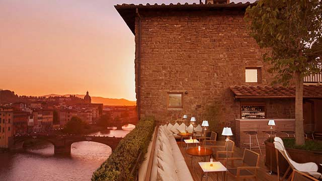 La Terrazza At Hotel Continentale Rooftop Bar In Florence