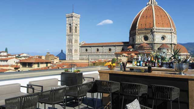 Divina Terrazza At Grand Hotel Cavour Rooftop Bar In Florence