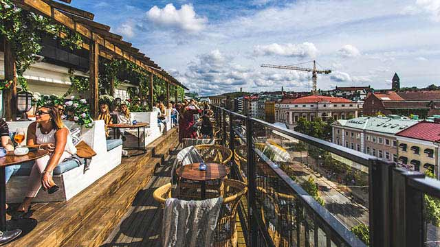 Pigalle Hotel Goteborg : Cielo rooftop bar at hotel bellora rooftop bar in gothenburg