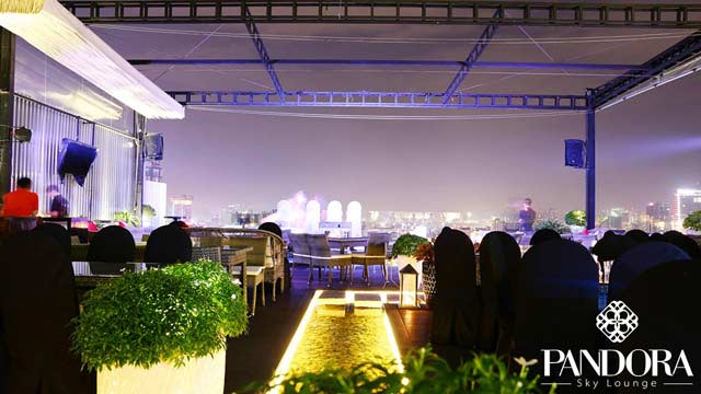 Rooftop bar Ho Chi Minh Pandora Sky Lounge in Ho Chi Minh
