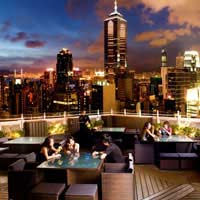 Rooftop bar Hong Kong Azure Restaurant Slash Bar in Hong Kong