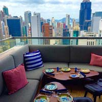 Rooftop bar Hong Kong ON Dining Kitchen & Lounge in Hong Kong