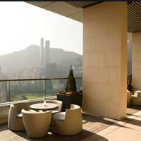 Rooftop bar Hong Kong Pavilion at Crowne Plaza Causeway in Hong Kong