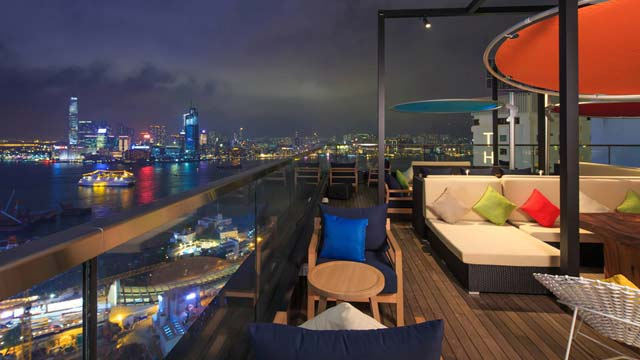 Rooftop bar Hong Kong Seafood Room in Hong Kong