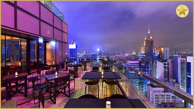 Rooftop bar Hong Kong Wooloomooloo in Hong Kong