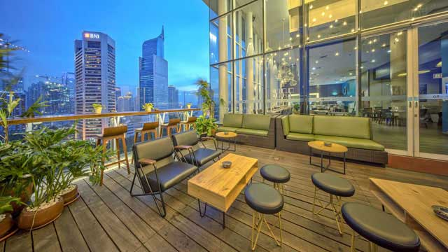 Rooftop bar Sky Loft at All Seasons Hotel in Jakarta
