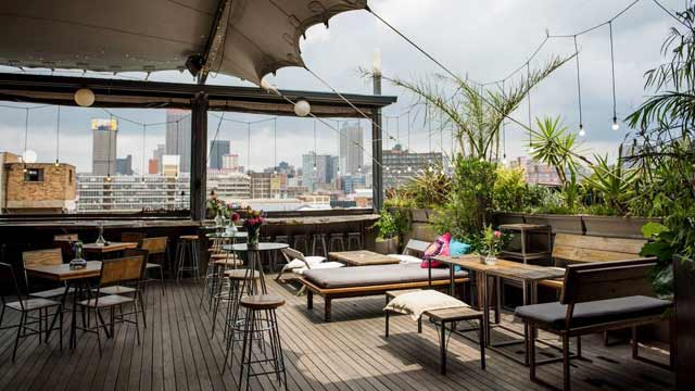 Rooftop Bar Living Room Rooftop Café In Johannesburg