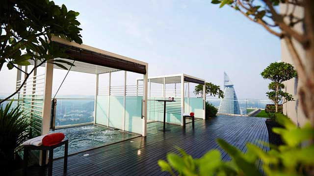 Rooftop bar U-bar at Capri by Fraser in Kuala Lumpur