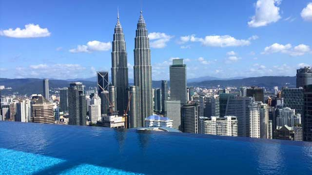 The face suites rooftop bar in kuala lumpur the - Rooftop swimming pool kuala lumpur ...