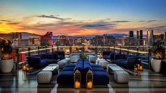 Rooftop bar Apex Social Club in Las Vegas