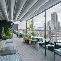 Rooftop bar London Ace Hotel London Shoreditch in London