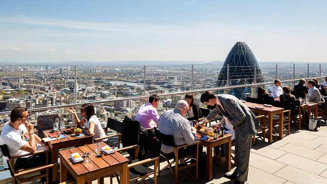 Rooftop bar London Sushisamba in London