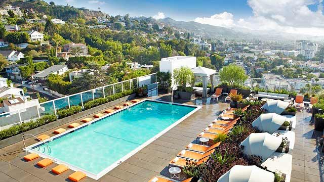 Rooftop bar LA Andaz West Hollywood in Los Angeles