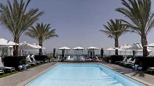 Rooftop Pool At The London West Hollywood