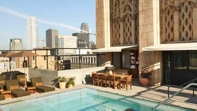 Rooftop Bar Upstairs At The Ace Hotel In Los Angeles