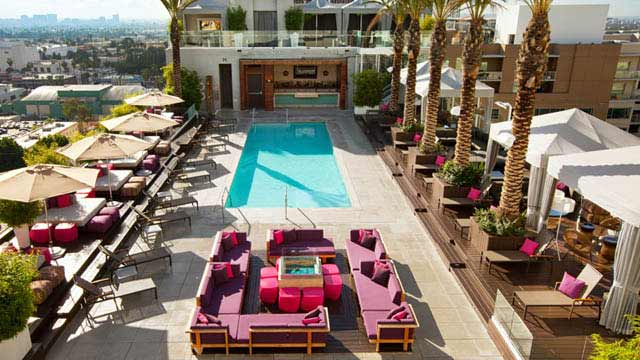 Wet Deck At W Hotel Rooftop Bar In La Los Angeles The